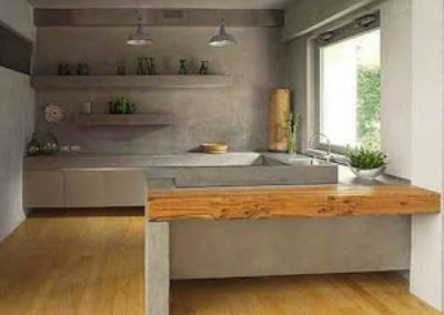 Microcement wand keuken
