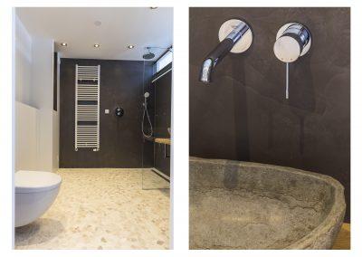 Badkamer microcement wandafwerking