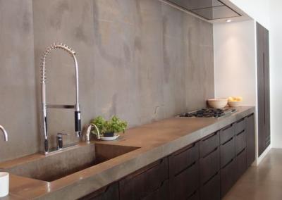 Keuken microcement wand en keukenblad