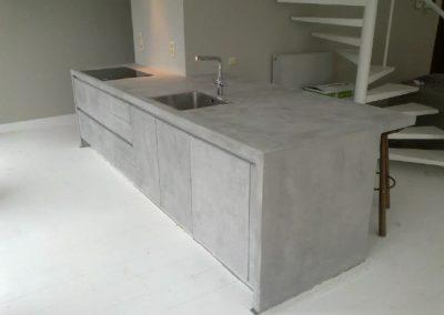 Keuken meubel microcement